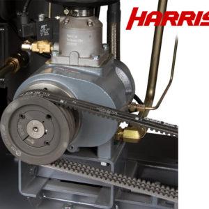 Фото узла винтовой пары компрессора с ременным приводом
