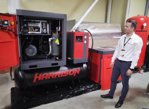 Презентация компрессорной станции (винтовой компрессор, ресивер, осушитель) Harrison моноблочного исполнения
